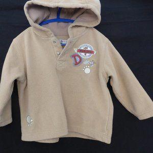 GEORGE, fleece hoodie, 24 months, partial button